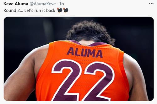 To No One's Surprise, Keve Aluma Returns To Virginia Tech